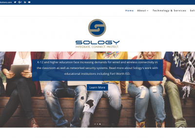 Sology Solutions: Website